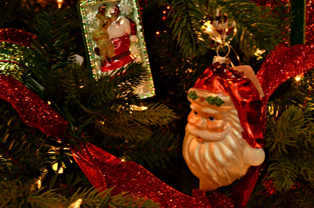 jolly ole santa ribbon