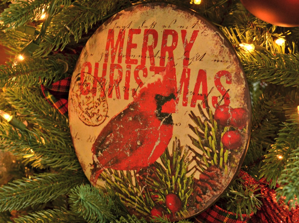 serenity in nature merry ornament