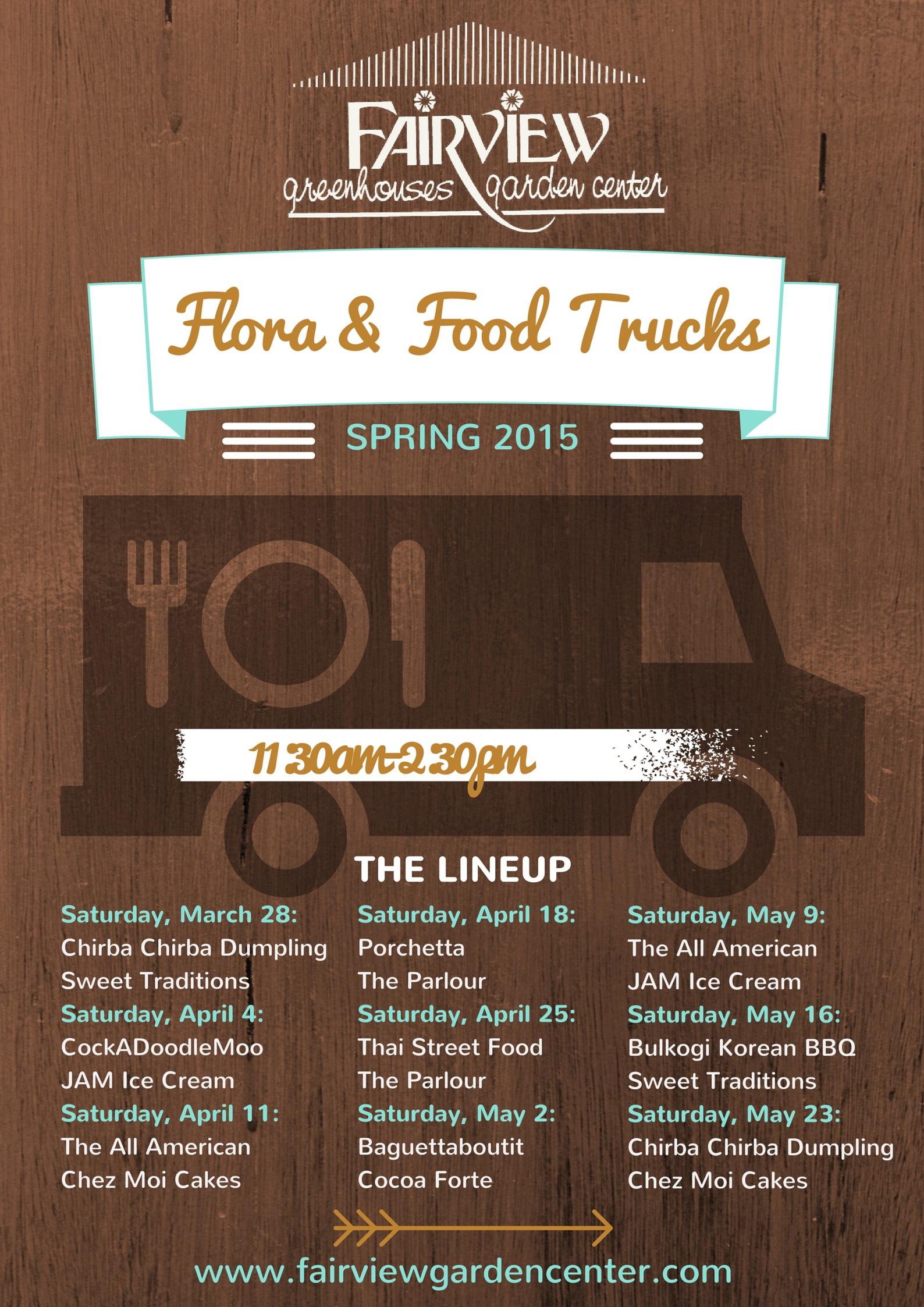 Flora & Food Trucks Poster 2015 V1