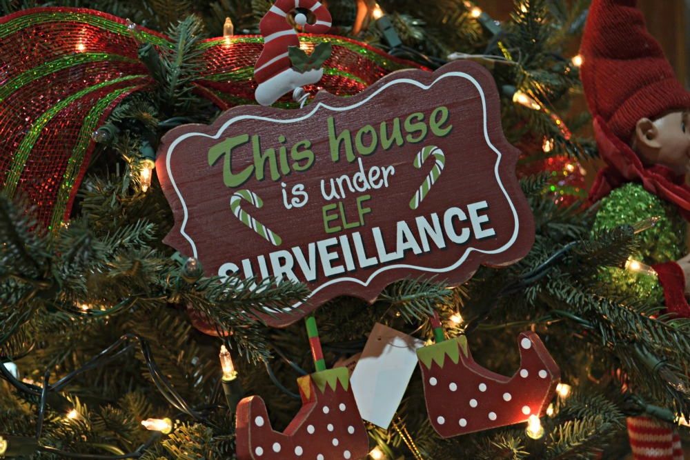 elfish elf surveillance ornament elfish christmas elf ornament