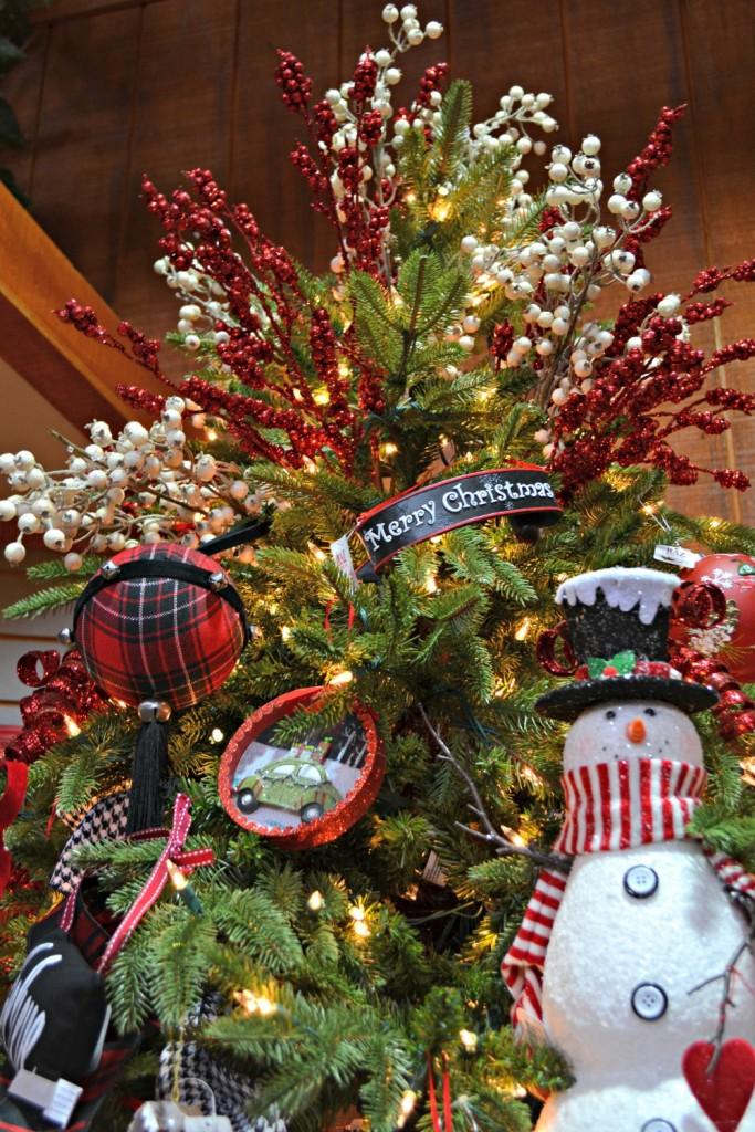 No Humbug Here snowmand chalkboard Christmas tree