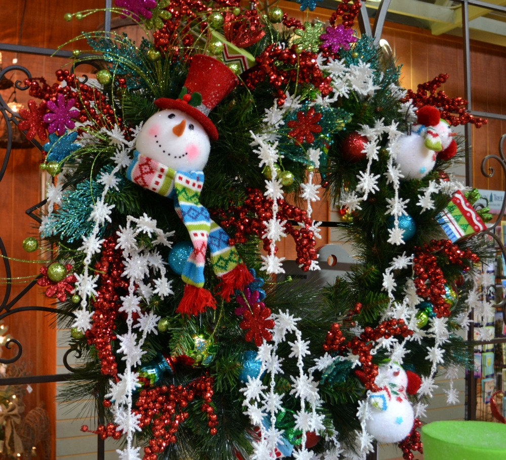 Snow Much Fun snowman Christmas wreath